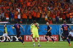 Holanda goleia Espanha na Fonte Nova por 5 a 1   #5A1, #CopaDoMundo, #Espanha, #Goleada, #Holanda, #HolandaVsEspanha, #LuizClaudioFerreira