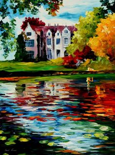 "CRAWLEY - WEST SUSSEX, ENGLAND — PALETTE KNIFE Oil Painting On Canvas By Leonid Afremov - Size 40""x30"""