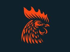 Rooster designed by Sergey Kovalenko. Connect with them on Dribbble; Rooster Tattoo, Rooster Logo, Rooster Art, Red Rooster, Rooster Illustration, Chicken Illustration, Gfx Design, Logo Design, Graphic Design