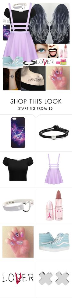 """""""Pastel Goth???"""" by emmcg915 ❤ liked on Polyvore featuring Lokai, Jeffree Star, Vans and Witchery"""