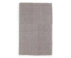 Tappetino bagno in cotone Grata grigio - 60x120 cm
