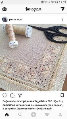 This post was discovered by Sabahat Yılmaz. Discover (and save!) your own Posts on Unirazi. Types Of Embroidery, Hand Embroidery Designs, Embroidery Art, Embroidery Stitches, Embroidery Patterns, Doily Patterns, Dress Patterns, Drawn Thread, Hardanger Embroidery