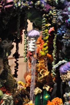 Crochet jellyfish coral reef