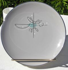 Vintage Franciscan ware gladding Mcbean co encore china dishware. What a cool design, though I don't care for the color.