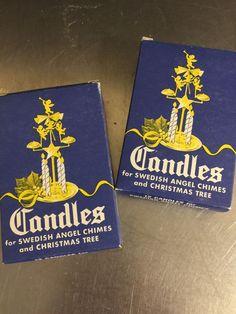 Vintage Swedish Candles Angel Chimes 2 Boxes 24 NIB White Xmas Decor Tree           eBay