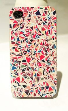 Nice Colourful Triangle Hard Cover Case