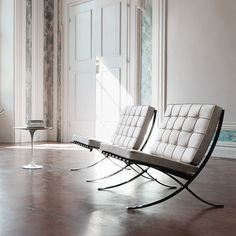Knoll Ludwig Mies Van Der Rohe - Barcelona® Lounge Chair - One of the most recognized objects of the last century, and an icon of the modern movement, the Barcelona Chair exudes a simple . 1920s Furniture, Cool Furniture, Modern Furniture, Furniture Design, Furniture Stores, Furniture Outlet, Office Furniture, Bauhaus Furniture, Furniture Movers