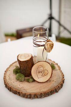 Inspiración: rodajas de madera