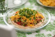 Dip into party time fun with Six-Layer Dip from Kraft Recipes. True to the belief that more is merrier, this delicious Six-Layer Dip is a chips best buddy. Kraft Foods, Kraft Recipes, Home Recipes, Dip Recipes, Cooking Recipes, Family Recipes, Meal Recipes, What's Cooking, Delicious Recipes