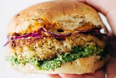 Spicy Cauliflower Burgers by Pinch of Yum