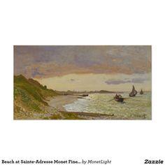 Beach at Sainte-Adresse Monet Fine Art Poster