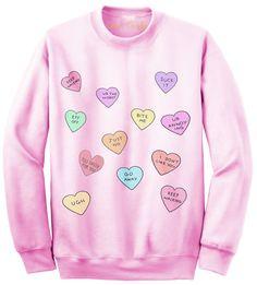 Hate Hearts Baby Pink Sweatshirt