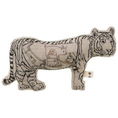 Coral & Tusk - Man Eating Tiger Embroidered Linen Doll