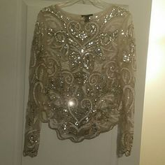 F21 Party Shirt Extra sparkly, size large but actually is more of medium. F21 Tops Blouses