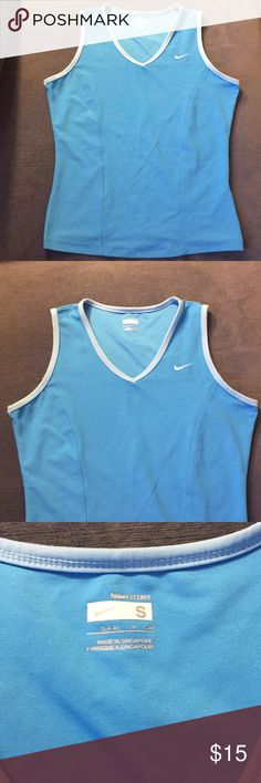 Nike Fit Dry Tank Sky blue fit dry tank. Comfortable material. Perfect for running. In great condition. Nike Tops
