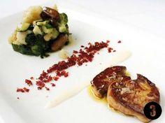 ZEZILIONEA: El valor de la sencillez  Verduritas salteadas con crujiente de jamón, foie fresco y puré de patata