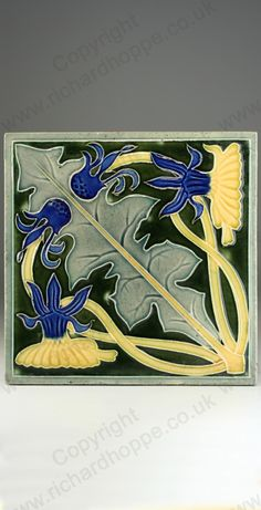 Art Nouveau & Art Deco Tiles. French, La Majolique. This item is sold. To visit my website to see what's in stock click here: http://www.richardhoppe.co.uk or for help or information email us here: info@richardhoppe.co.uk