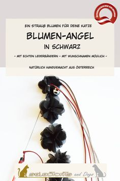 Blumen Angel in rot oder schwarz - Selectcats and Dogs Petshop Pet Shop, Dogs, Leather Cord, Names, Cat, Handmade, Pet Store, Pet Dogs, Doggies