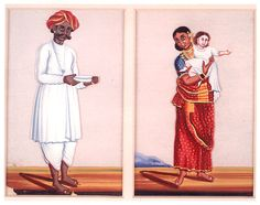 PEOPLE OF INDIA: A bearer or head servant; an ayah holding a European