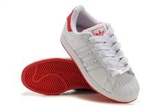 cff8ba65a81 Adidas Adicolor GS - Chaussure Adidar Pas Cher Pour Femme Enfant Blanc Rouge
