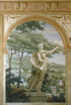 Fresco Style painted wall mural