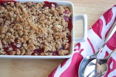 strawberry double apple crisp with ginger