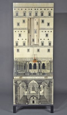 """Gallery of auction pics from the sale of the Piero Fornasetti (Italian, 1913-1980) 2-Part Trumeau-Bar """"Architettura"""" can be seen here:   http://bid.igavelauctions.com/Bidding.taf?_function=detail_uid1=2360866#Image11"""