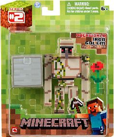 1x NEW Iron Golem Action Figure Toy Articulated Minecraft Overworld Series #1 !! #Jazwares