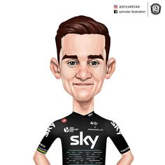 Michał Kwiatkowski wins Strade Bianche for the 2nd time #teamsky #procycling #poland #polska  #stradebianche #castelli #pinarello #cycling #cyclingphoto #illustration #cartoon #wacom
