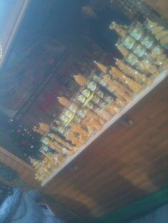 Wax sculptures and honey, Leeds Christmas market