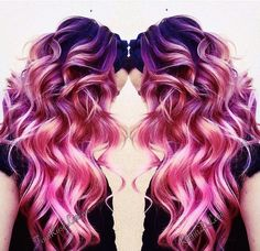 30 Bold Hair Colour Ideas You Should Try For 2016 – Page 2 - coloration - Bold Hair Color, New Hair Colors, Blonde Color, Crazy Hair Colour, Ombre Colour, Bright Hair, Ombre Hair, Purple Hair, Hot Pink Hair