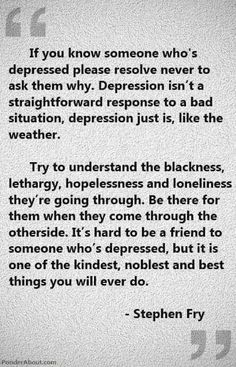 Depression. Great advice. My heart hurts for those who survive this battle. <3