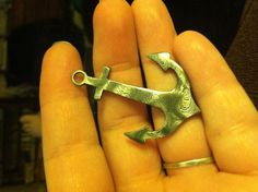 Alabama Damascus steel Anchor pendant