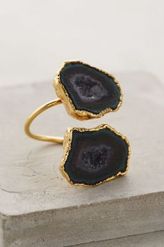 Druzy Wrap Ring #anthrofave #anthropologie.com