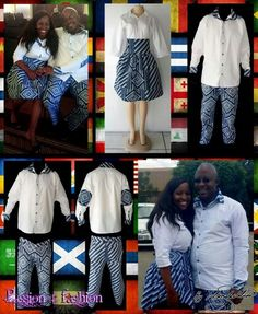 Matching couples traditional outfit. High waisted gathered skirt with 3/4 sleeve white blouse. Trousers and shirt with collar, cuffs and elbow patches detail. #mariselaveludo #fashion #traditionalwear #passion4fashion