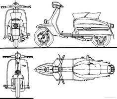 lambretta technical drawing - Google Search