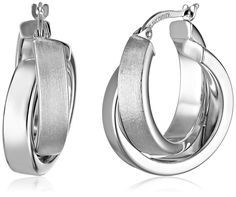 14k Gold Satin and Polished Crossover Hoop Earrings The Duragold 14k Gold Crossover Hoop Earrings give a classic hoop design a modernized look. Click-top earring backs hold this unique  Read more http://cosmeticcastle.net/jewelery/beauty-cosmetic-89  Visit http://cosmeticcastle.net to read cosmetic reviews