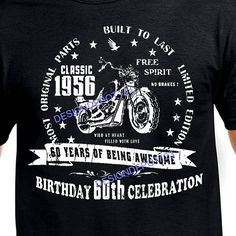 60th Birthday Gift T Shirt Funny Age 60 Years Old Man 1956