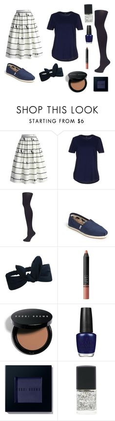 """""""My Dream Job Outfit, A Teacher"""" by fionalilylove ❤ liked on Polyvore featuring Chicwish, Jil Sander Navy, Dorothy Perkins, TOMS, NARS Cosmetics, Bobbi Brown Cosmetics, OPI and Lane Bryant"""
