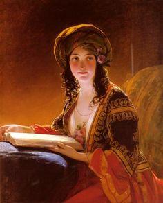 """""""The Oriental"""", 1839, by Friedrich von Amerling (Austro-Hungarian, 1803-1887)"""