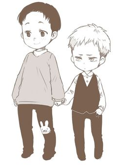 Child Marco: Hello! Im marco! And this is my best friend Jean! He likes to hold my hand alot..not sure why..But I dont mind one bit! Right now we are waiting for my mama to make a bunny patch for Jean too..though It might be a horse since we ran out of pink fabric.