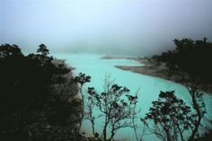 kawah putih, a crater in ciwidey, west java
