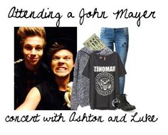 """""""Attending a John Mayer concert with Ashton and Luke"""" by superman-094 ❤ liked on Polyvore featuring Filles à papa, H&M, Aéropostale and Alexander McQueen"""