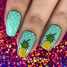 nail art designs for spring 2020 - nail art designs & nail art designs easy & nail art designs for spring & nail art designs summer & nail art designs classy & nail art designs videos & nail art designs for spring 2020 & nail art designs with glitter Nail Art Designs Videos, Nail Art Videos, Spring Nails, Summer Nails, Summer Nail Art, Fall Nails, Diy Nails, Cute Nails, Pineapple Nails