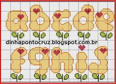 Dinha Ponto Cruz: Monograma flor by Dinha