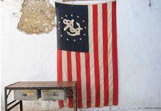 Yacht Club Stars Stripes and Anchor Regatta Flag ($200-500) - Svpply