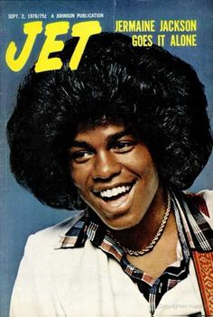"Jermaine Jackson on the cover of Jet, September The beginning of ""the hair"" lol Jet Magazine, Black Magazine, Ebony Magazine Cover, Magazine Covers, Jackson Family, Jackson 5, Jermaine Jackson, Essence Magazine, Vintage Black Glamour"