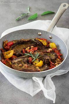 Costolette+di+agnello+al+forno+con+peperoni