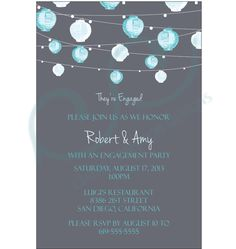 Engagement Party Invitation by CCdesignSpace on Etsy https://www.etsy.com/listing/154471377/engagement-party-invitation
