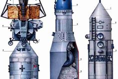 Soviet Lk Manned Lunar Lander (page - Pics about space Apollo Space Program, Nasa Space Program, Spaceship Art, Spaceship Design, Air Space, Deep Space, Sistema Solar, Programa Apollo, Lunar Lander